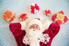 Santa Claus. Top view Stock Photos