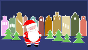 Santa Claus in town. Royalty Free Stock Photography