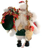 Santa claus toy. Photo of santa claus toy isolated on white Stock Images