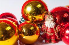Santa Claus toy with balls decoration Stock Image