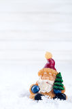 Santa Claus toy brings Christmas tree Stock Photography