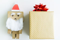 Santa claus toy With the gif box Stock Photo