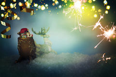 Santa Claus toy. New Year. Christmas background. Happy New Year Royalty Free Stock Image