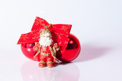 Santa Claus toy. With red balls Royalty Free Stock Photo