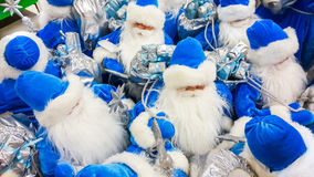Santa Claus toy in supermarket. Royalty Free Stock Photography