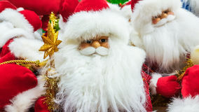 Santa Claus toy in supermarket. Royalty Free Stock Image