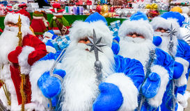 Santa Claus toy in supermarket. Stock Images