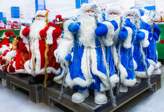 Santa Claus toy in supermarket. Stock Photo
