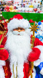 Santa Claus toy in supermarket. Royalty Free Stock Photos