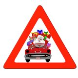Santa Claus traffic sign Stock Images