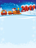 Santa Claus train Royalty Free Stock Images