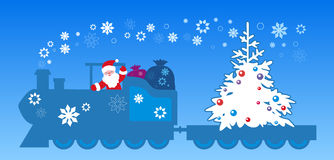 Santa Claus train royalty free illustration