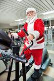 Santa Claus  training Stock Photo