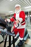 Santa Claus  training Stock Photo