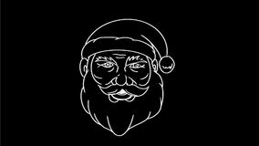Santa Claus Transform glad xmas som drar den 2D animeringen stock video
