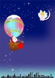Santa Claus travel, Royalty Free Stock Images