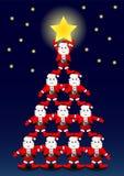 Santa Claus tree Royalty Free Stock Images