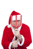 Santa Claus with trident Stock Photo
