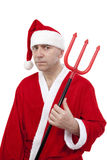 Santa Claus with trident Royalty Free Stock Images