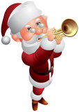 Santa Claus Trumpeter Christmas Musician Royalty Free Stock Photo