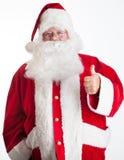 Santa Claus tummar upp Royaltyfri Fotografi