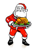 Santa Claus turkey Stock Photo