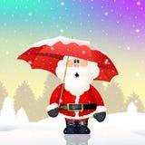 Santa Claus with umbrella Stock Photos