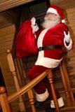 Santa Claus a un sac de cadeau Photos libres de droits