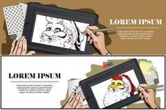 Santa Claus in una maschera del gallo Simbolo dell'anno horoscope Fotografia Stock