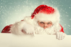 Santa Claus in una neve Fotografia Stock Libera da Diritti