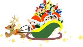 Santa Claus und Kinder Lizenzfreies Stockfoto