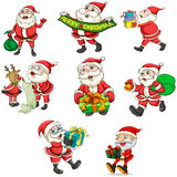 Santa Claus und sein Ren lizenzfreie abbildung