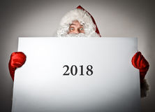 Santa Claus und Weißbuch Konzept zwei tausend und achtzehn Stockbilder