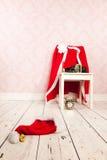 Santa Claus undressed stock image
