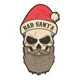 Santa Claus in uno stile di lerciume illustrazione di stock