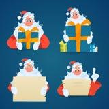 Santa Claus uppsättning Royaltyfria Bilder