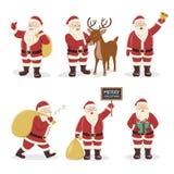 Santa Claus uppsättning Arkivfoto