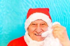 Santa Claus utan skägget royaltyfri bild