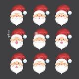 Santa Claus uttryckssymbol Stock Illustrationer