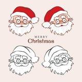 Santa Claus vänder mot sinnesrörelser Royaltyfri Fotografi