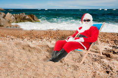Santa Claus on vacation Stock Image