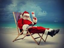 Santa claus vacation royalty free stock photography