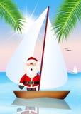 Santa Claus on vacation Royalty Free Stock Image