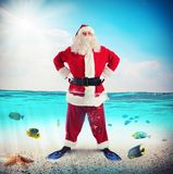 Santa Claus on vacation Stock Photo