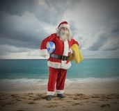 Santa claus vacation Royalty Free Stock Photos