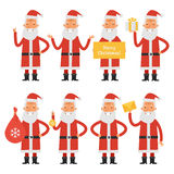 Santa Claus in various poses part 1 Stock Photo