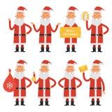 Santa Claus in various poses part 1 Stock Photo