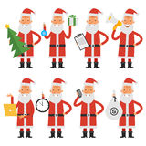 Santa Claus in various poses part 2 vector illustration