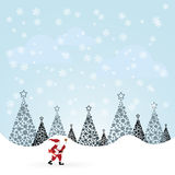 Santa Claus vector illustration Royalty Free Stock Images