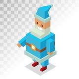 Santa Claus vector illustration. Cartoot old man. Santa Claus 3d isometric vector illustration. Santa Claus cartoot old man with red hat and sack. Santa Claus Stock Photo